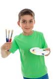 Gelukkig kind klaar voor kunst en ambacht royalty-vrije stock afbeeldingen