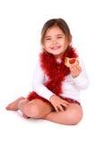 Gelukkig kind met koekje. royalty-vrije stock afbeeldingen