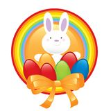 Gelukkig konijntjesPasen symbool Stock Afbeelding