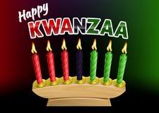 Gelukkig Kwanzaa-Kaarsenontwerp vector illustratie
