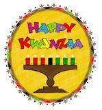 Gelukkig Kwanzaa-Klemart. stock illustratie