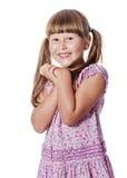 Gelukkig lachend meisje royalty-vrije stock afbeelding