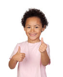 Gelukkig Latijns kind die O.k. zeggen Royalty-vrije Stock Fotografie