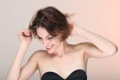 Gelukkig Levensstijlbeeld van een Mooie Vrouw Royalty-vrije Stock Foto's