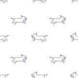 Gelukkig lopend honden naadloos patroon Stock Foto's
