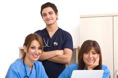 Gelukkig medisch team Stock Foto