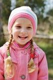 Gelukkig meisje in de lente Stock Fotografie