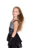Gelukkig meisje met stromend haar Royalty-vrije Stock Foto's