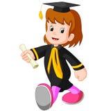 Gelukkig meisje na graduatie royalty-vrije illustratie