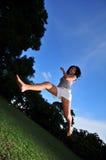 Gelukkig Meisje in Park 10 Stock Foto's