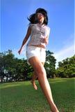 Gelukkig Meisje in Park 7 Royalty-vrije Stock Afbeelding
