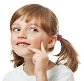 Gelukkig meisje - portret stock afbeelding