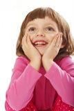 Gelukkig meisje - verrassing Royalty-vrije Stock Afbeeldingen