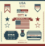 Gelukkig Memorial Day Patriottische Amerikaan Stock Afbeeldingen