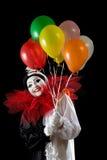 Gelukkig met ballons Stock Afbeeldingen