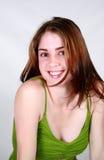 Gelukkig mooi meisje Stock Foto