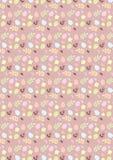 Gelukkig naadloos het patroonrood van Pasen Stock Afbeeldingen