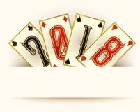 Gelukkig nieuw casino 2018 jaar, vector Stock Fotografie