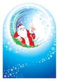 Gelukkig nieuw het jaarframe van de kerstman Stock Afbeelding
