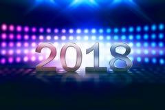 Gelukkig nieuw jaar 2018 Stock Foto's