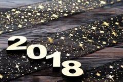 Gelukkig nieuw jaar 2018 Stock Afbeelding