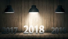 Gelukkig nieuw jaar 2018 Stock Afbeeldingen