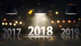 Gelukkig nieuw jaar 2018 Stock Foto