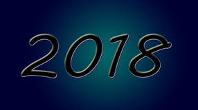 Gelukkig nieuw jaar 2018 Royalty-vrije Stock Afbeeldingen