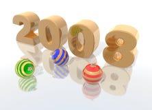 Gelukkig nieuw jaar 2008 vector illustratie