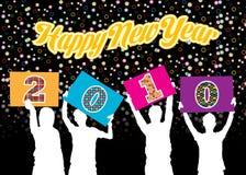 Gelukkig nieuw jaar 2010 Stock Afbeeldingen