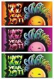 Gelukkig nieuw jaar 2011 Royalty-vrije Stock Fotografie