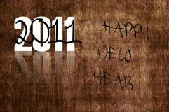 Gelukkig nieuw jaar 2011 Royalty-vrije Stock Afbeeldingen