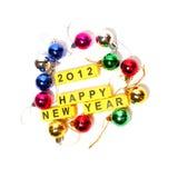 Gelukkig nieuw jaar 2012 Stock Afbeelding