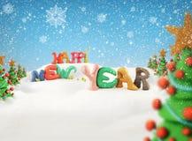 Gelukkig nieuw jaar 2012 Stock Afbeeldingen