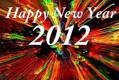 Gelukkig nieuw jaar 2012 concept Royalty-vrije Stock Afbeeldingen