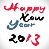 Gelukkig nieuw jaar 2013 creatief ontwerp Stock Fotografie
