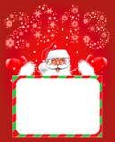 Gelukkig nieuw jaar 2013. Kerstmis. De Kerstman Royalty-vrije Stock Fotografie