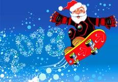 Gelukkig nieuw jaar 2013. Kerstmis. De Kerstman Royalty-vrije Stock Afbeelding