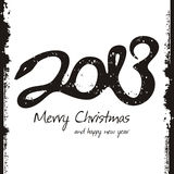 Gelukkig nieuw jaar 2013, kleurrijk ontwerp Royalty-vrije Stock Afbeeldingen