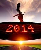 Gelukkig nieuw jaar 2014 Stock Afbeelding