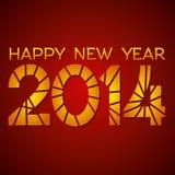 Gelukkig nieuw jaar 2014 Royalty-vrije Stock Afbeelding
