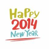 Gelukkig nieuw jaar 2014 vector illustratie