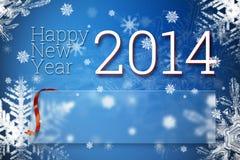 Gelukkig nieuw jaar 2014 Royalty-vrije Stock Fotografie