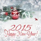 Gelukkig nieuw Jaar 2015! Stock Foto