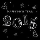 Gelukkig nieuw jaar 2015 royalty-vrije illustratie
