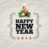 Gelukkig nieuw jaar 2015 Stock Foto