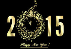 Gelukkig nieuw jaar 2015 Royalty-vrije Stock Afbeeldingen