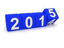 Gelukkig nieuw jaar 2015 Stock Fotografie