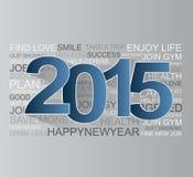 Gelukkig nieuw jaar 2015 Royalty-vrije Stock Fotografie
