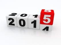 Gelukkig nieuw jaar 2015 Stock Afbeeldingen